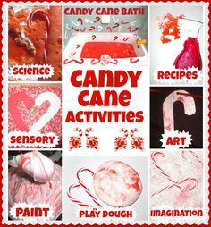 Fun and festive candy cane activities for kids from Growing A Jeweled Rose!