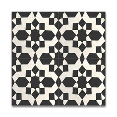 Affos Black and White Handmade Cement and Granite Moroccan 8-inch x 8-inch Floor and Wall Tile (Pack of 12)