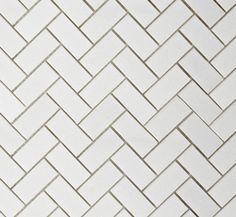 Photo Gallery Trendy Tile Picks White Herringbone