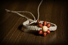 Natural hemp bracelet w/wood beads. 8 inches. SOLD.  Email me for more info: dkwilson68@hotmail.com