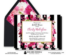 Wedding / shower invites : buy the digital file only for $28 and print myself to save $$$