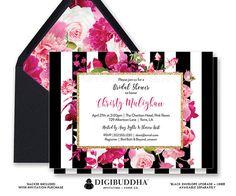 BRIDAL SHOWER INVITATION Bridal Shower Invite por digibuddhaPaperie