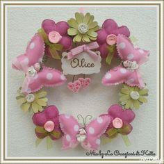 Fiocco nascita bimba con fiori e farfalle. Visita la mia pagina https://m.facebook.com/Mia-by-Le-Creazioni-di-Katia-541366992614125/
