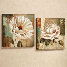 Garden Delicacies Floral Canvas Wall Art Set