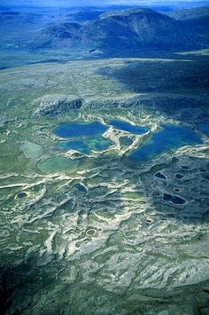 Aerial photo of Eskers, Northern Labrador, NF  Canada