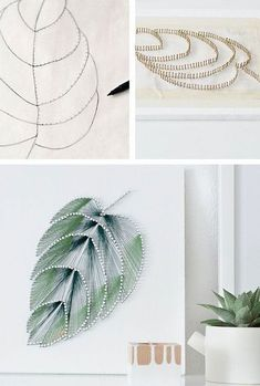 String Art Crafts: 50 Inspirations and Amazing Steps to Good . String Art Crafts: 50 Amazing Inspirations and Steps to Pump Your Production! String Art Templates, String Art Patterns, Nail String Art, String Crafts, Diy Arts And Crafts, Creative Crafts, Art Crafts, Art Corde, Broderie Bargello