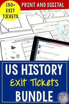 Social Studies Exit Tickets (Exit Slips) are the perfect formative assessment activity for your history students. They are easy to use and data driven. This resource contains 155 exit ticket activities. These digital exit slips are great for distance learning and compatible with Google Slides and Classroom.