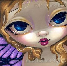 Faces of Faery #116 Purple Butterfly by Jasmine Becket-Griffith