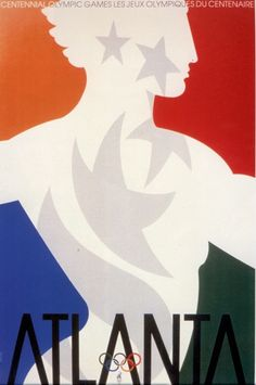 Olympic Games 1996 poster  Official Poster. As a Games tradition, one poster is selected by the IOC president as the official poster of the Games. Accordingly, IOC President Juan Antonio Samaranch selected a poster designed by Primo Angeli, one of the original Look designers, one week prior to the Games.