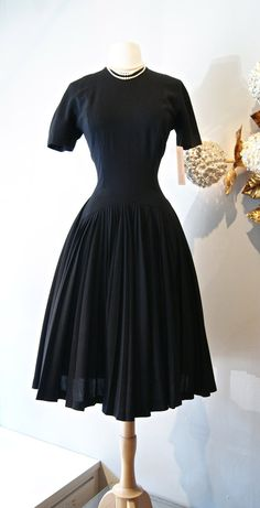 Vintage 1940s Dress by Lilli Ann  Late 40s New by xtabayvintage, $398.00
