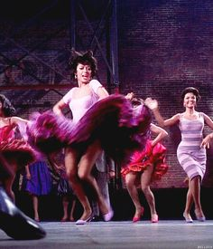 West Side Story - Next time I need a fancy dress I'm getting one like Rita Moreno's here. I'll be spinning and dancing all night long!!