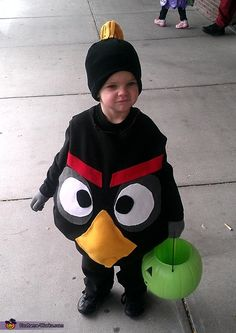 Kara: My son Brodee is wearing the costumewe made it with felt, stuffing, and fabric glue;-).