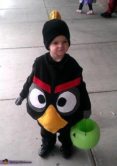 Black Angry Bird Costume - Halloween Costume Contest