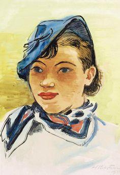 Hermann Max Pechstein (1881-1955) Mädchenbildnis