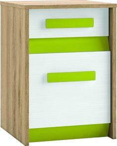 BEST 11 KONTENER - kontener do biurka z szufladą i drzwiczkami, z kolorowymi wstawkami do wyboru Mebel z płyty laminowanej, o nowoczesnym i funkcjonalnym kształcie, drzwiczki uniwersalne montowane jako lewe lub prawe. BEST 11 KONTENER wchodzi w skład mebli systemowych BEST