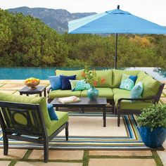 Create an open-air sanctuary in the garden or on the patio: the distinctive openwork design and smooth, slatted surfaces make each piece of our modular	Yorkshire Sectional Seating Set a pleasure from every angle. With this versatile design, it's possible to update your outdoor space by changing the layout	or cushion colors (sold separately) with each season. So go ahead: select your combination and get ready to relax and entertain with outdoor	furniture that fits your style and budget…
