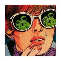 I am a huge fan of vintage comic book-style pop art. When writing, I'm not keen on describing the sc Pop Art Vintage, Vintage Comic Books, Vintage Comics, Comic Books Art, Comic Art, Book Art, Retro Vintage, Vintage Cartoon, Pop Art Girl Crying