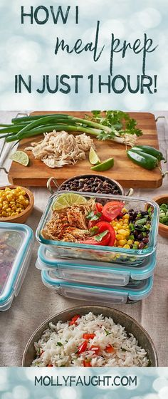 Want to meal prep but don't have the time? I got you girl! Take a look at my blog which outlines how I prep an entire week's worth of food in just one hour, and it's so easy! #mealprep #mealplanning #mealprepping Best Meal Prep, Meal Prep For The Week, Healthy Meal Prep, Eat Healthy, College Food Hacks, College Meals, Healthy Eating Habits, Clean Eating Recipes, Chipotle