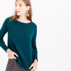 This sweater is proof that sometimes the simplest styles are the most perfect. This is one of our favorites of the season, thanks to its tightly woven round Italian yarns that give it a light and airy feel and a classic, chunky look. <ul><li>Relaxed fit.</li><li>Hits slightly below hip.</li><li>Wool.</li><li>Rib trim at neck, cuffs and hem.</li><li>Dry clean.</li><li>Import.</li><li>Online only.</li></ul>