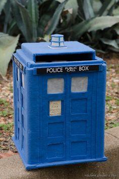 TARDIS card box tutorial diy | austin wedding photographers » Austin Wedding Photographers – Nadine Photography