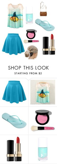"""""""Water"""" by jazzygirl-fun ❤ liked on Polyvore featuring Havaianas, Bobbi Brown Cosmetics, Dolce&Gabbana and New Directions"""