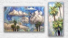 Original paintings on canvases large and small! From trees to clouds to lily pads. Bring a whimsical touch of nature to your wall decor.