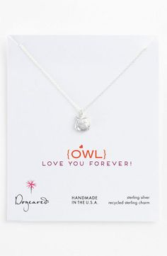 Dogeared 'Owl Love You Forever' Pendant Necklace available at #Nordstrom
