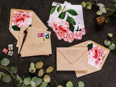 Envelopes, Liners, and envelope guest and return addressing for wedding…