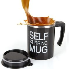 Upgraded Self Stirring Mug with Stainless Steel Inner Tank, Creative Coffee Mug with Lid Electric Auto Mixing Milk Tea Cup. Coffee Cup Tattoo, Coffee Cup Art, Manual Coffee Grinder, Pretty Mugs, Couple Mugs, Creative Coffee, Gadgets, Bottle Stoppers, Milk Tea