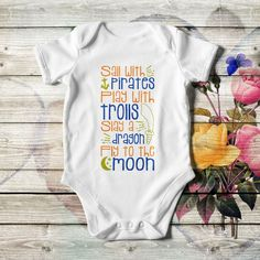 Baby Boy Customized Onesie Made For Lullabies ❤ ReFashion Party Personalized Baby Gifts, Baby Bodysuit, Refashion, Bodysuits, Baby Shower Gifts, Onesies, Baby Boy, Short Sleeves, Boys