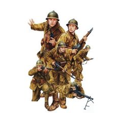 French Infantry 1940 Military Diorama, Military Art, Military History, Military Uniforms, Haiti, Commonwealth, French Armed Forces, Holland, Navy Air Force