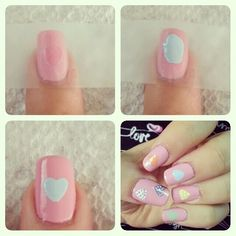 Easy Valentines Day Nail Art