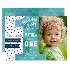 1st birthday invitation first birthday invitation boy birthday one watercolor birthday party invitation filmwisefo
