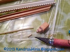 Blog with tutorials about dollhouse miniatures minis miniature hobby.