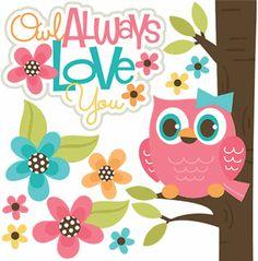 Owl Always Love You - Girl - Cutouts