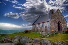 海外旅行世界遺産 レイク・テカポと教会 テ・ワヒポウナム-南西ニュージーランドの絶景写真画像ランキング  ニュージーランド