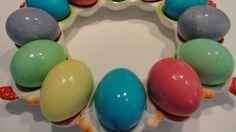 Βάψιμο αυγών με χρώματα ζαχαροπλαστικής
