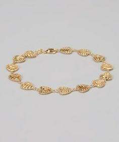 Look what I found on #zulily! Gold Stripe Open Heart Ankle Bracelet #zulilyfinds