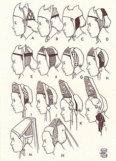 The hats of Bigouden. Repinned by www.mygrowingtraditions.com