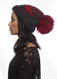ENVÍO gratuito - amor tejer sombrero con Extra grande Pom Pom