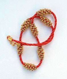 Prumihimo - Gold seed bead kumihimo tutorial