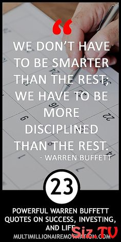 23 Powerful Warren Buffett Quotes on Success, Investing, and Life 23 Powerful Warren Buffett Development Quotes, Personal Development, Quotes Inspirational, Motivational Quotes, Warren Buffet Quotes, Trading Quotes, Finance Quotes, Warren Buffett, Powerful Quotes