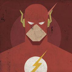 Heróis da DC em cartazes minimalistas