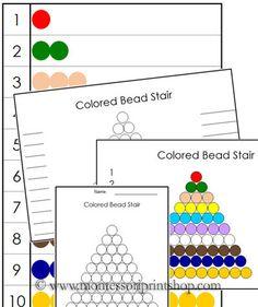 Montessori Colored Bead Control Charts