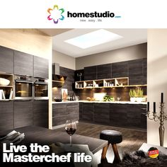 If cooking is your passion, you deserve a proper showcase. What can be a better one than our kitchen solutions? We offer a range of designs in latest finishes to give you a kitchen that is simply beautiful like the one shown here in Black oak finish. Check out the entire range at  #homestudio #kitchensolutions #furniture