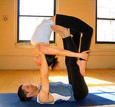 Partner Yoga Pose: Flying Bow