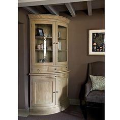 Buy Neptune Henley Curved, Glazed Rack Dresser, Oak Online at johnlewis.com