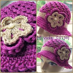 beautiful hat for girls in an irresistible fuchsia