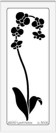 Dreamweaver Large Brass Stencil - Tall Orchid,$7.50