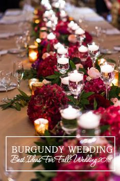 Burgundy wedding has a striking and impressive combination of colors for the fall wedding ceremony. These colors look great in the wedding decorations. They make the interior luscious and unforgettable. The contrast of burgundy dresses of bridesmaids and snow-white bridal gowns is amazing! #weddingforward #wedding #bride #WeddingDecor #BurgundyWedding